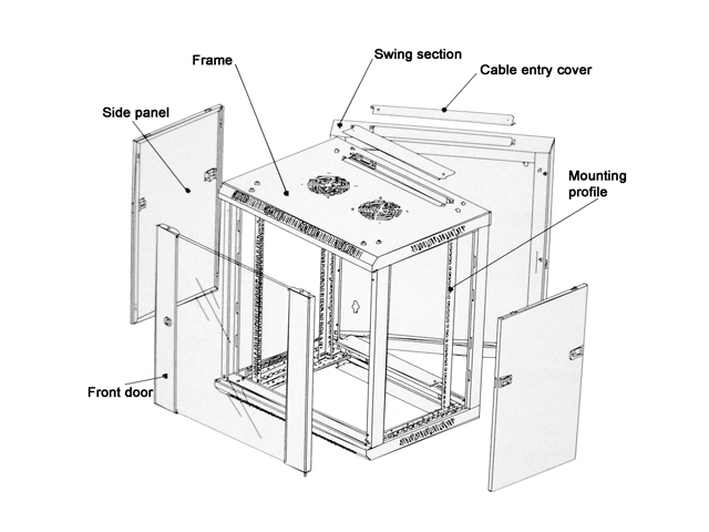 adw 19 u0026quot  double section wall mount enclosure